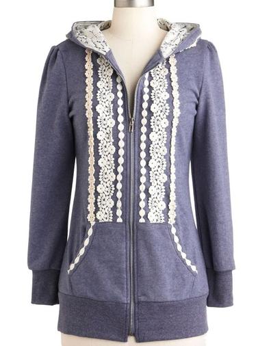 modcloth lace hoodie