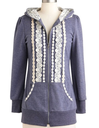 modcloth lace hoodie